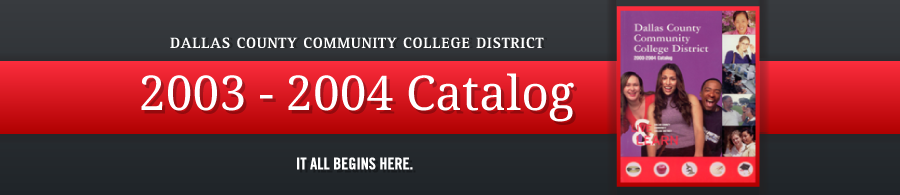 DCCCD 2003-2004 Catalog banner
