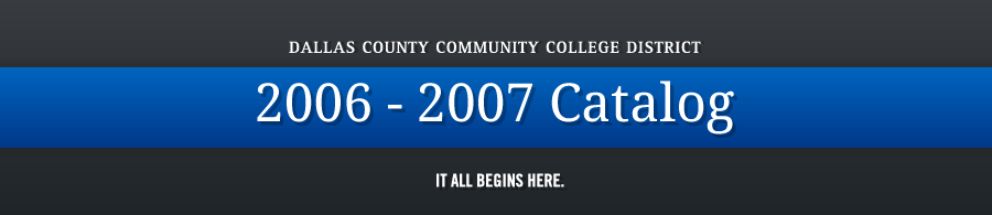DCCCD 2006-2007 Catalog banner