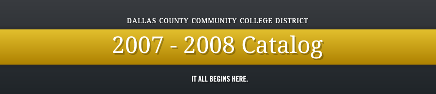 DCCCD 2007-2008 Catalog banner