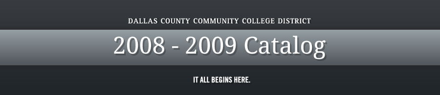 DCCCD 2008-2009 Catalog banner