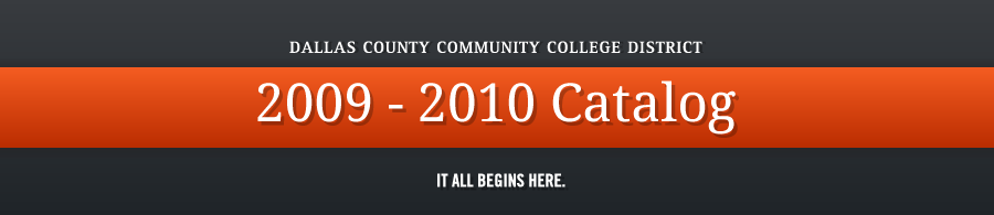 DCCCD 2009-2010 Catalog banner